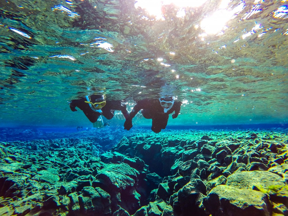 Snorkel Between Continents In Silfra with Free Photos