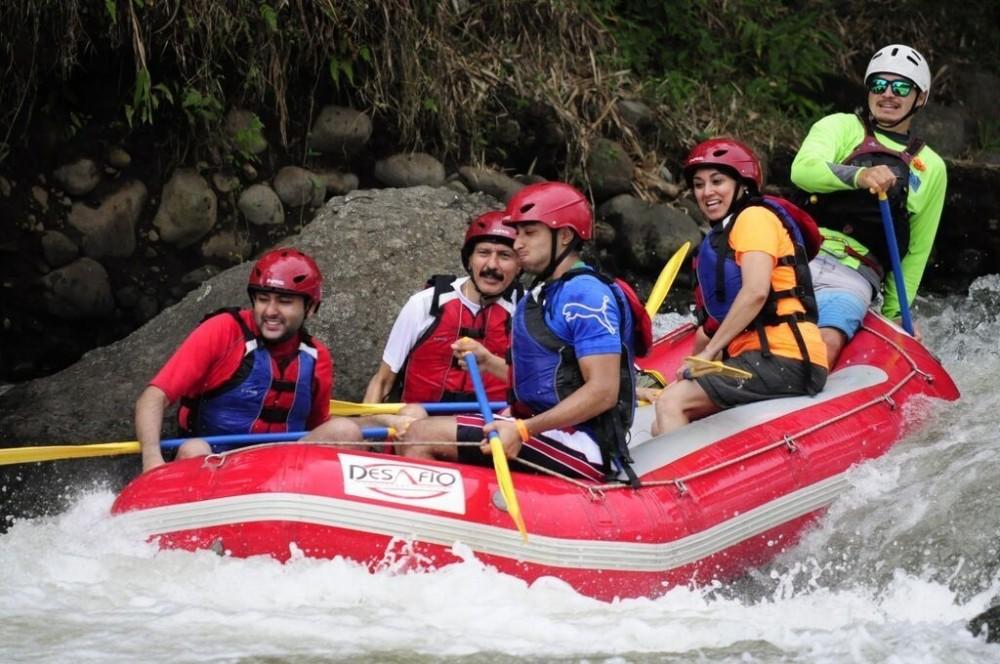 Arenal: White Water Rafting+ EcoTermales Hot Springs + Dinner