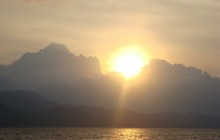 Sunset View on Boat at Arenal Lake (Wine & Cheese)