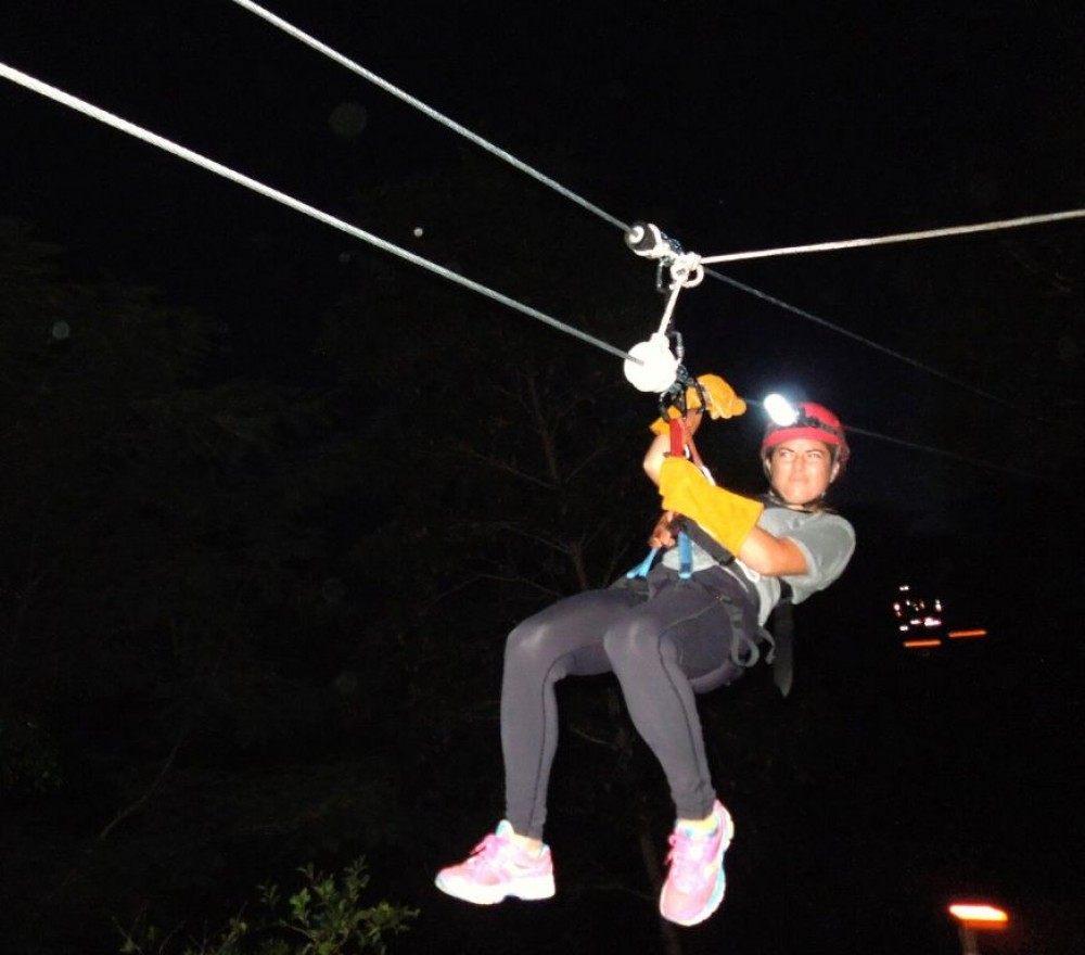 Zip Lines At Night