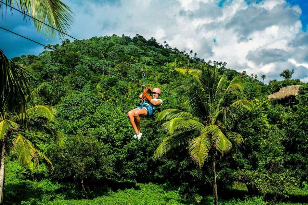 Zip Line Adventure Full Day fron Juan Dolio