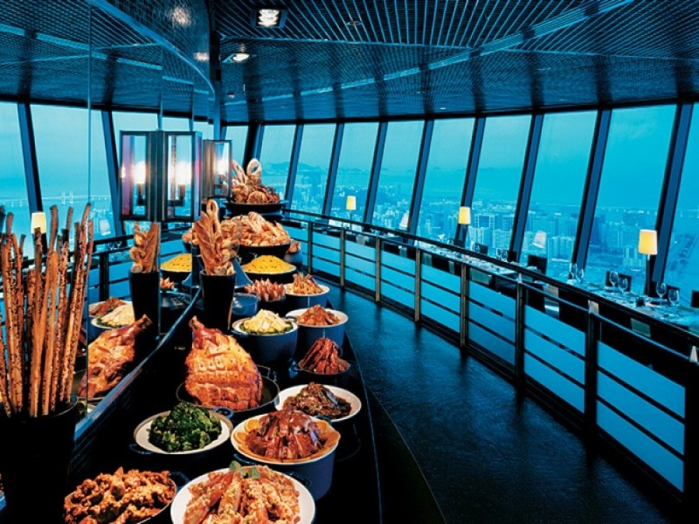 Dinner at Oriental Pearl Tower Revolving Restaurant + transfer