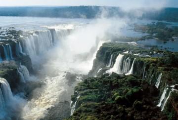 A picture of Iguazu Falls By Plane