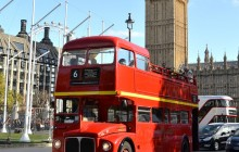 Vintage Open Top Bus Tour and Fish & Chips Pub Lunch (AM)