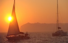 Semi Private Santorini Catamaran Sunset Cruise