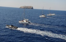 Private Santorini Motor Yacht Cruise - Half Day