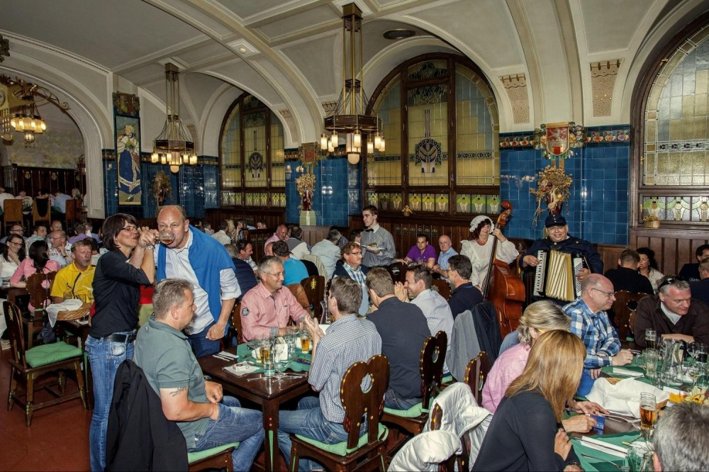 Traditional Czech Lunch Or Dinner At Municipal House In Prague