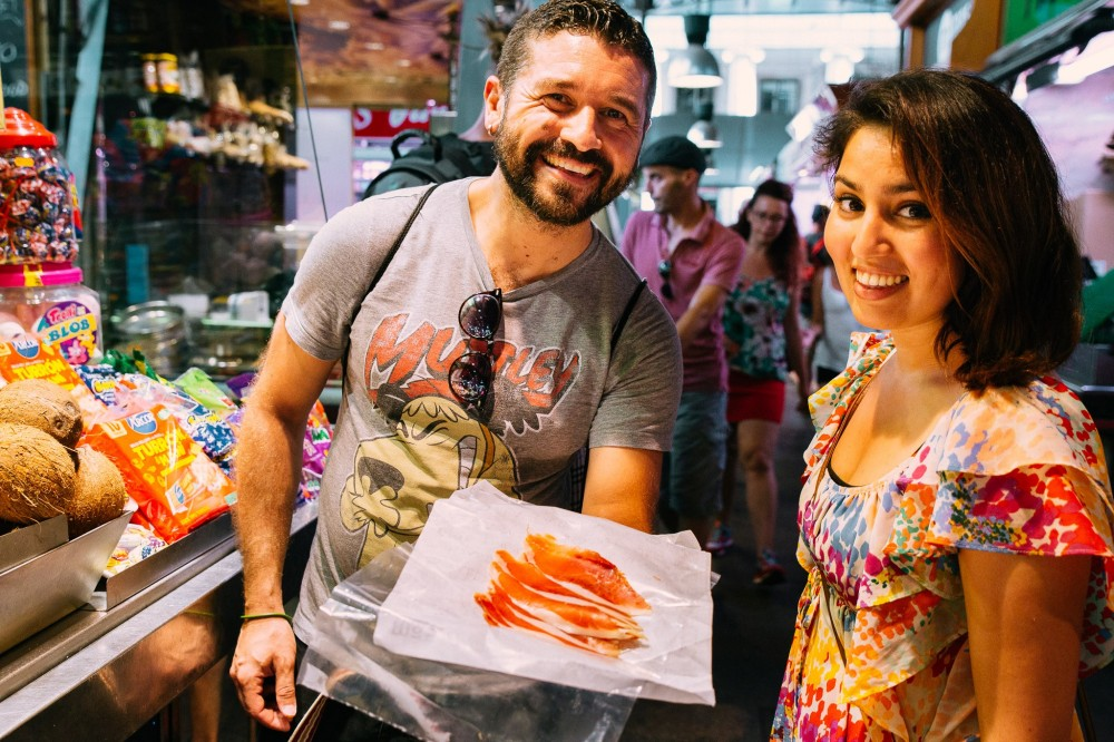 Private: Barcelona's Favourite Food Tour with 10 Tastings