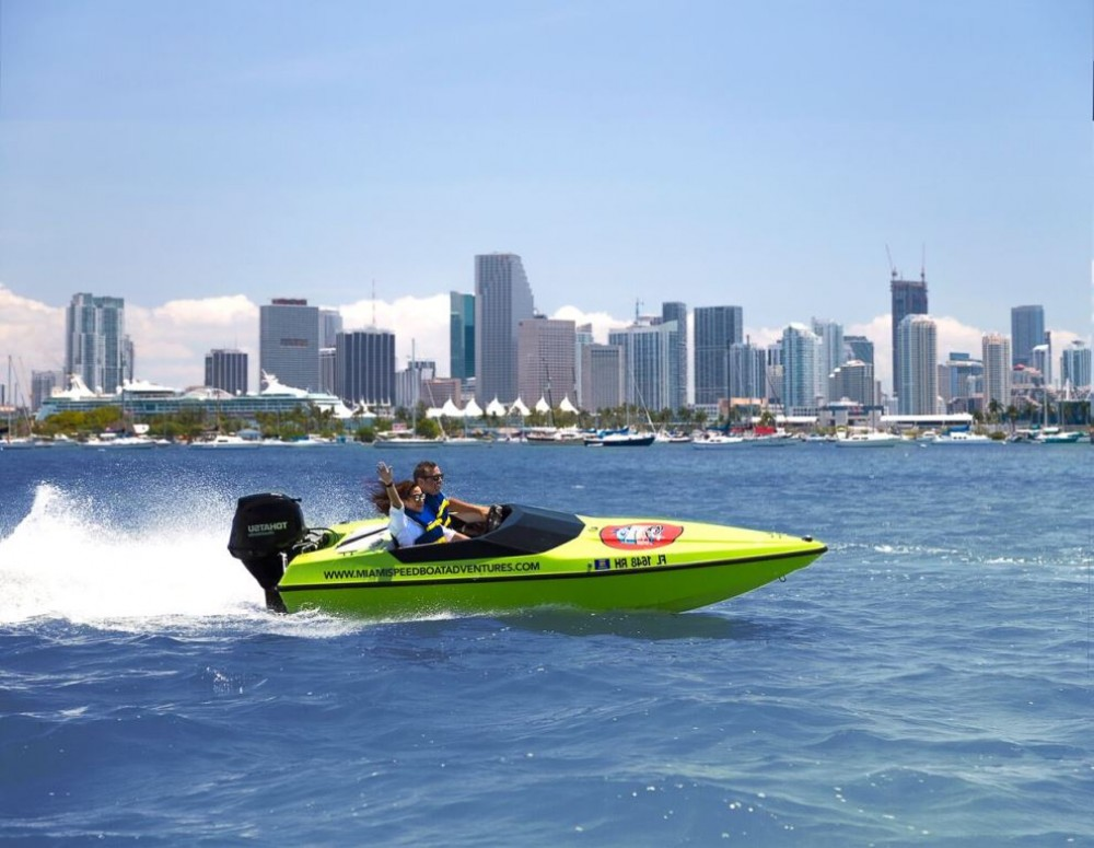 Miami Speed Boat Adventure Double Boat