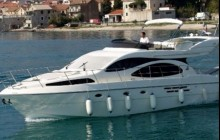Private Motor Yacht Charter - Barcelona Skyline