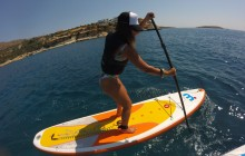 Stand Up Paddle Boarding + Snorkeling Tour at Loutraki Bay