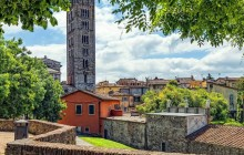 Pisa & Lucca Tour with Leaning Tower Entrance from Montecatini