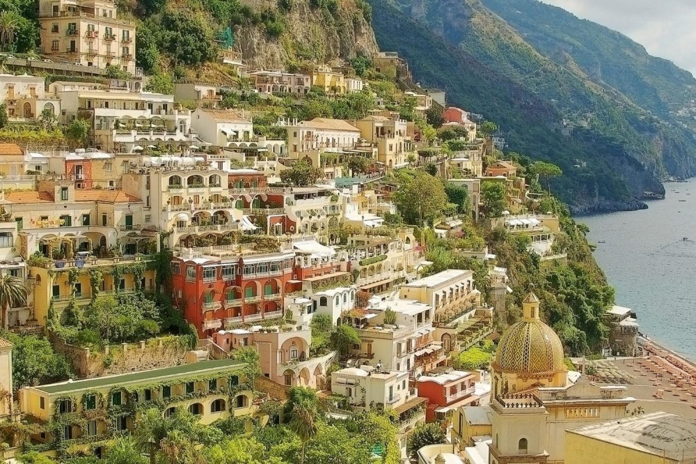 Semi Private Pompeii, Positano + Amalfi Coast Tour with Lunch