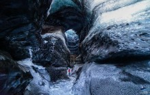 The Ice Cave Under the Volcano from Reykjavik