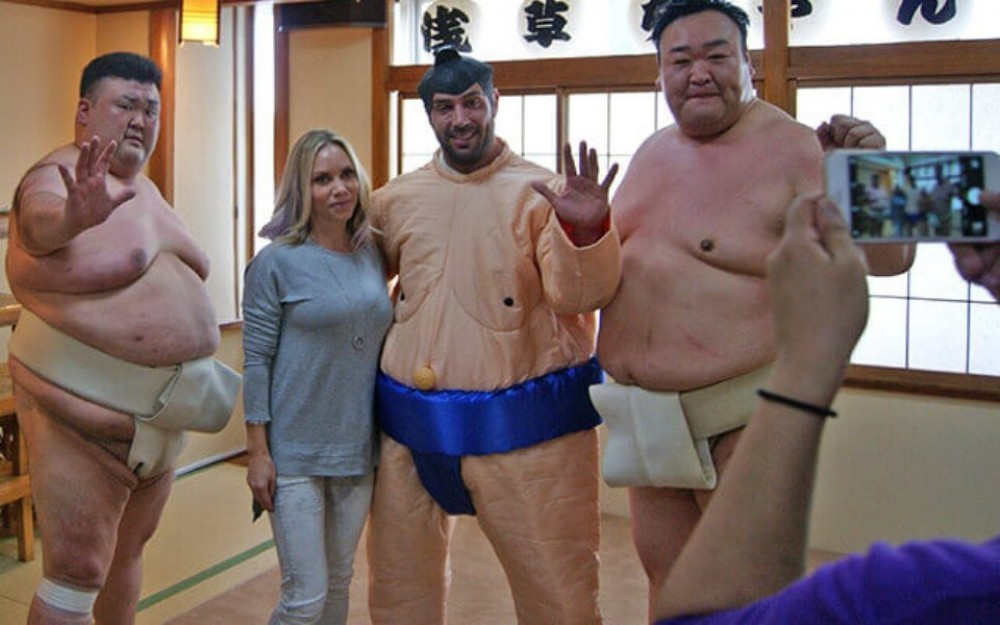 Sumo Wrestlers Interaction + Performance with Chanko Hot Pot