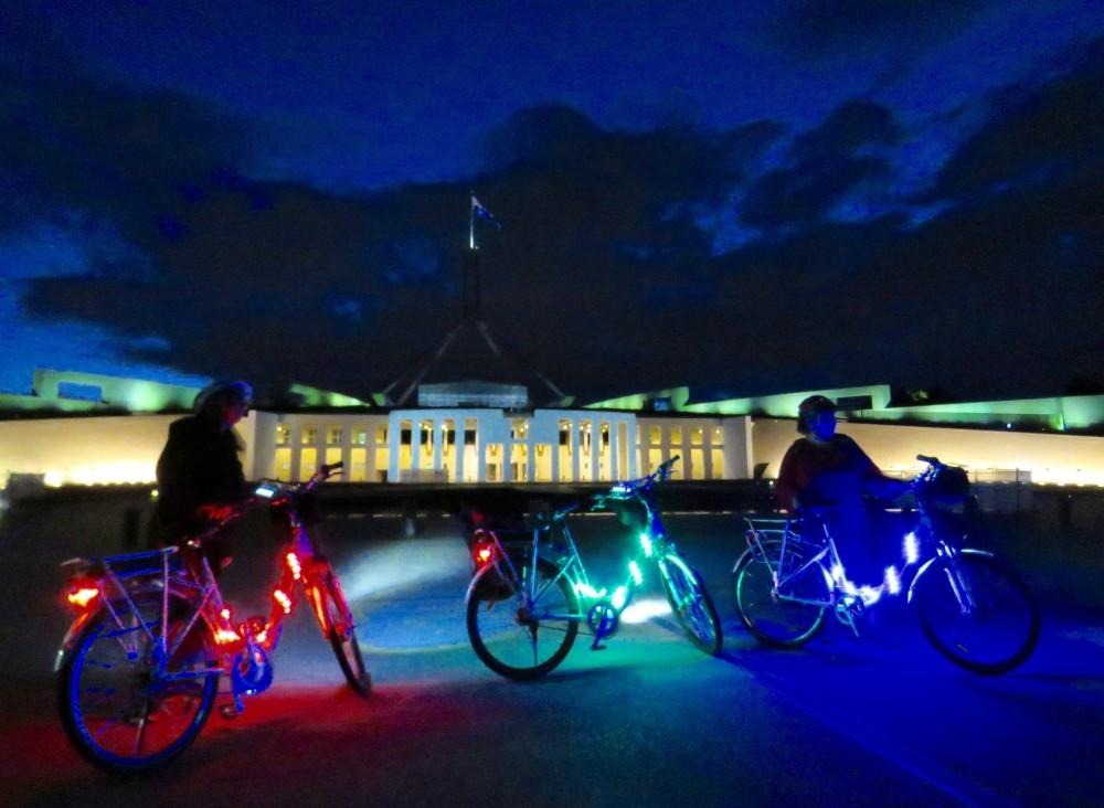 Small Group E-bike the Light Fantastic at Enlighten