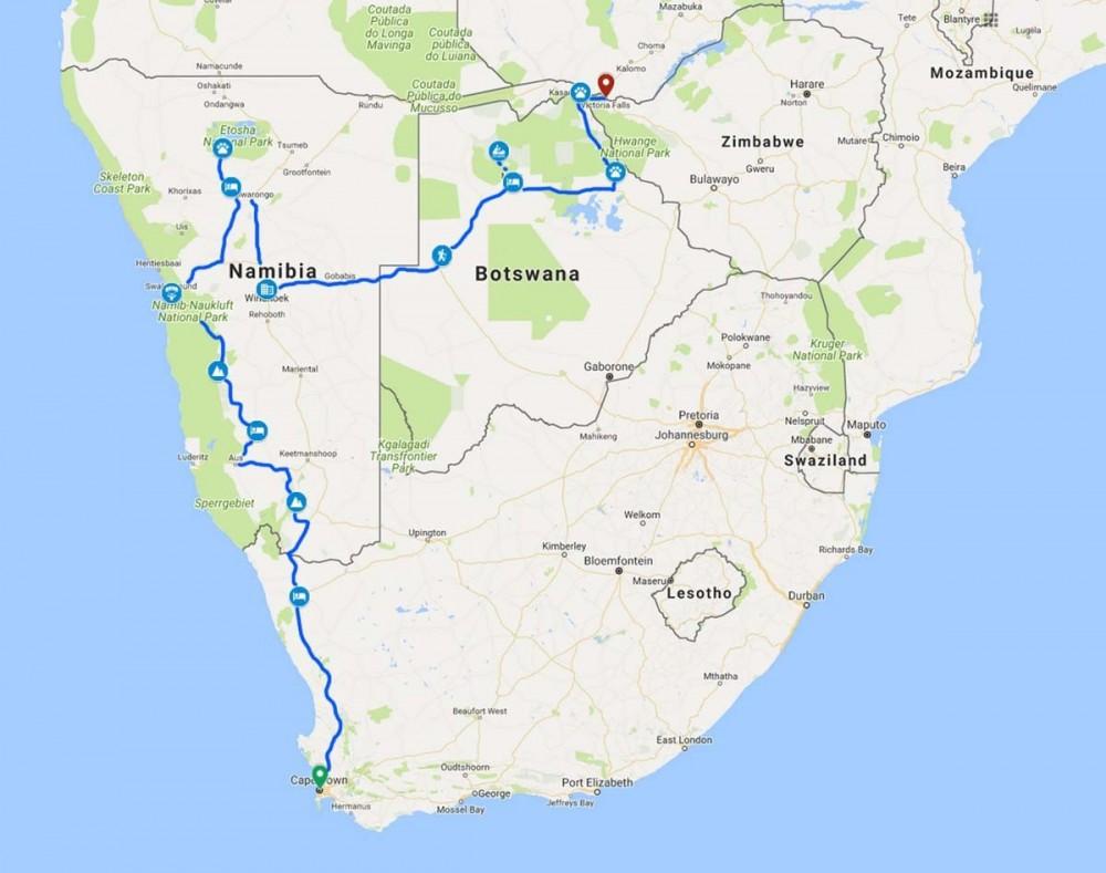 19 Days Cape To Victoria Falls Accommodated Adventure 2020