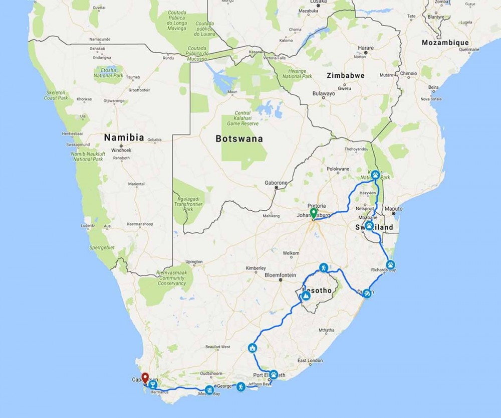 20 Day South Africa Explored Guided Accommodated Adventure