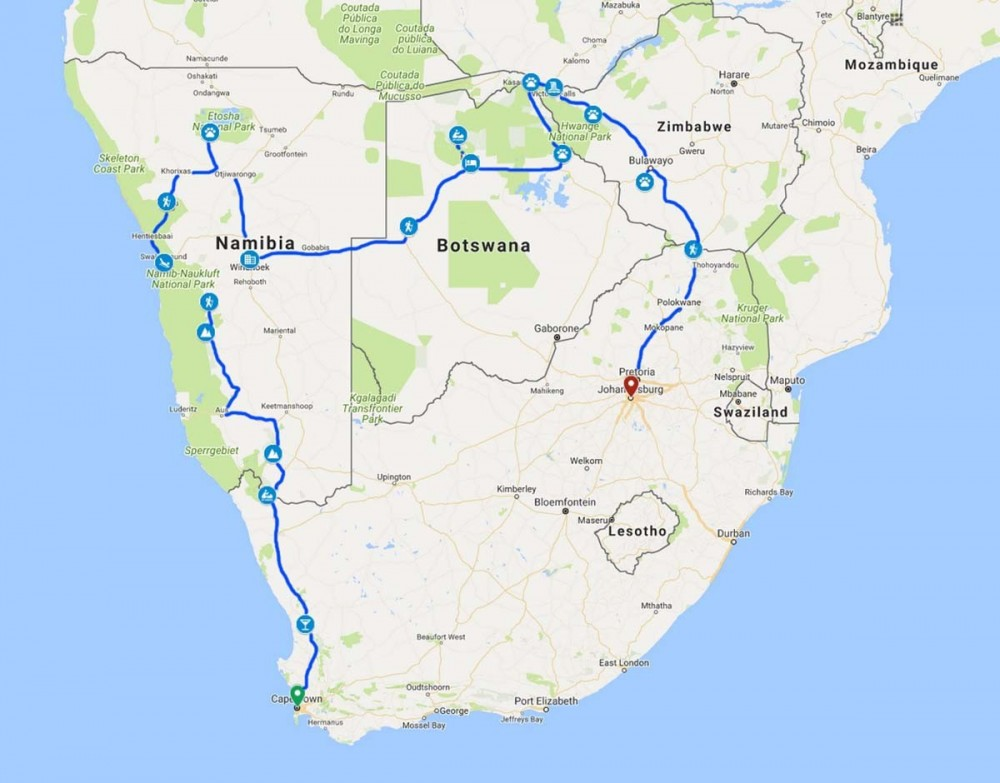 25 Day Cape To Vic Fall & Zimbabwe Serviced Camp Adventure 2020