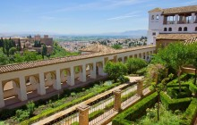 Granada with Alhambra Gardens from Malaga
