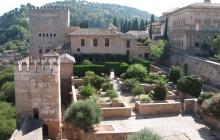 Granada with Alhambra Gardens from Costa Del Sol