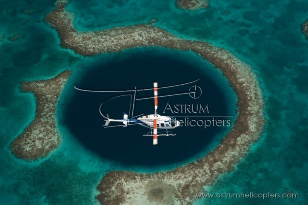 Blue Hole & Turneffe Islands Helicopter Tour