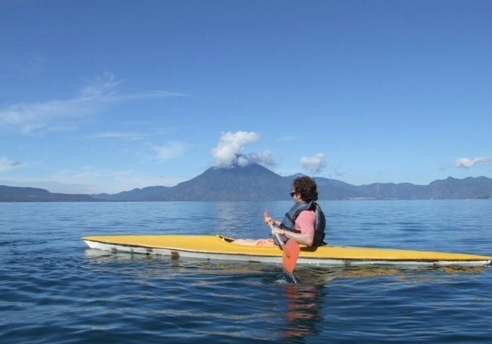 Kayaking on Lake Atitlan