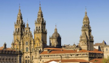 A picture of Northern Spain and Portugal from Santiago De Compostela