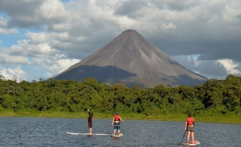 Stand Up Paddling (SUP) on Lake Arenal with Lesson & Tour