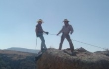 Rappelling Down Coyote Canyon