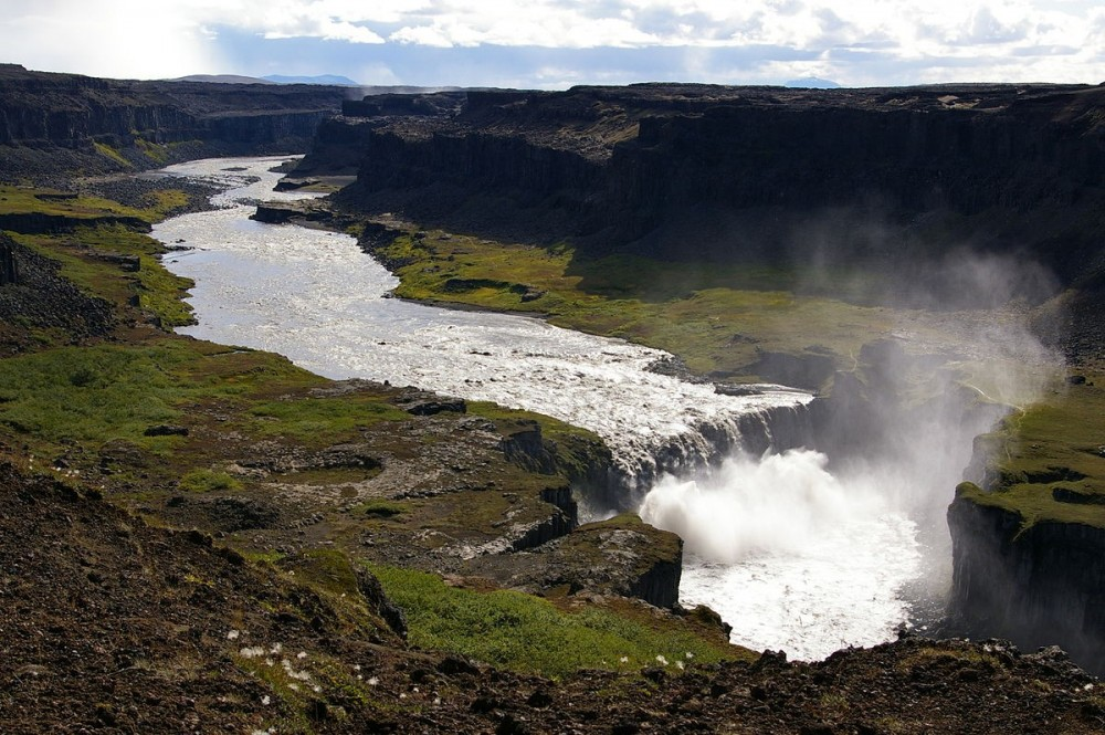 Hafragilsfoss Waterfall