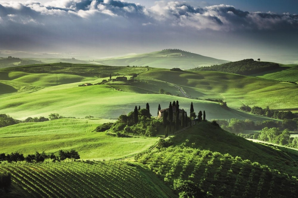 Montalcino, Pienza and Montepulciano from Montecatini