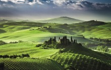 Montalcino, Pienza and Montepulciano from Siena