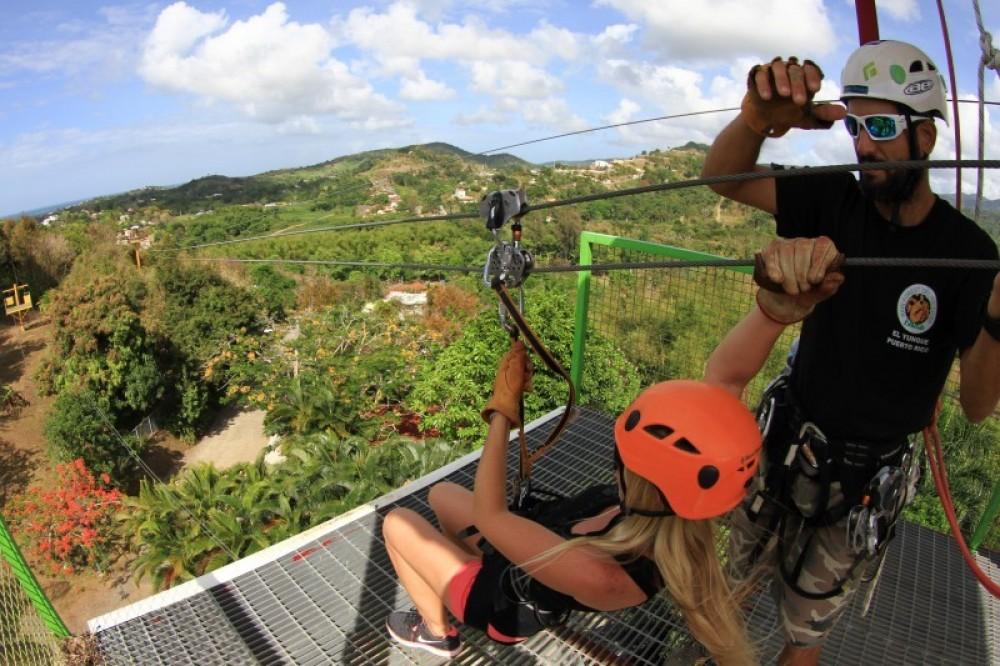 Rainforest Zipline Plus El Yunque National Rainforest Visit