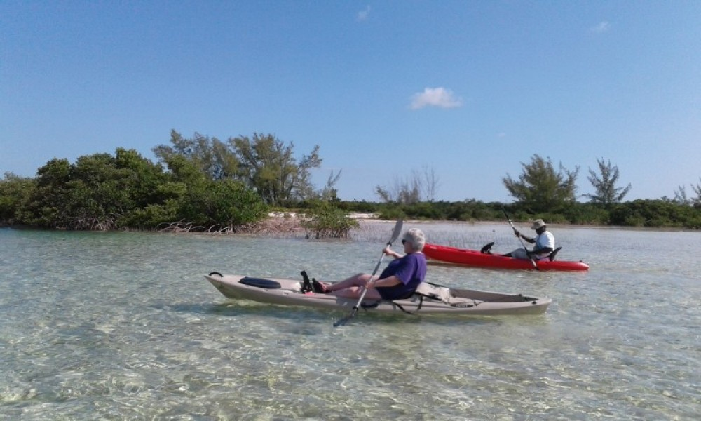 Kayaking Sweetings Cay Eco Tour