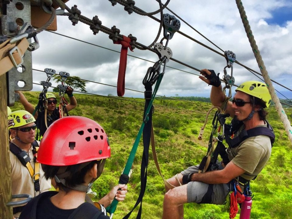 Helicopter Tour + Zip Lining from Hilo