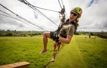 Helicopter + Ziplining + Volcano Tour from Hilo