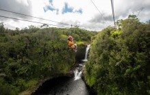 Helicopter + Ziplining + Volcano Tour from Kona