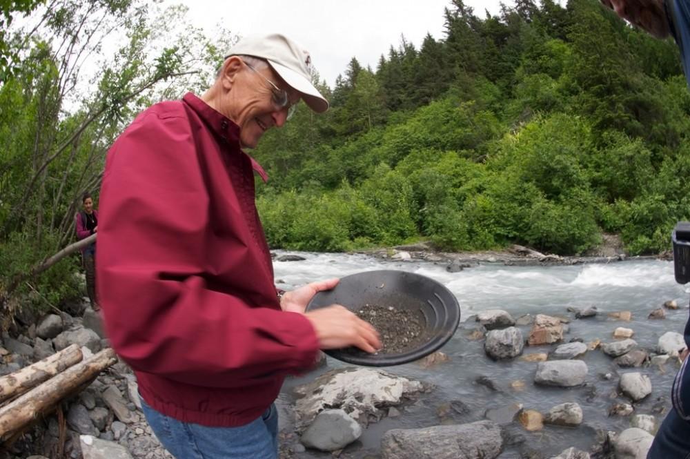 Gold Panning at Historic Crow Creek Mine