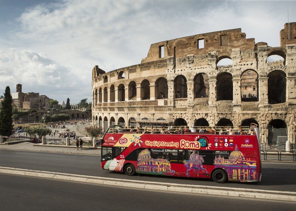 City Sightseeing Hop On Hop Off Rome + Colosseum Guided Tour