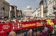 City Sightseeing Hop On Hop Off Rome + Vatican Guided Tour