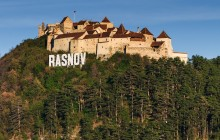 Bran Castle and Rasnov Fortress from Brasov