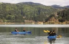 Canoeing on Furnas Lagoon