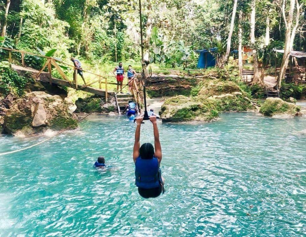 Irie Blue Hole Adventure Tour from Ocho Rios