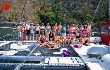 Taboga Island Day Tour on Catamaran Red Cat