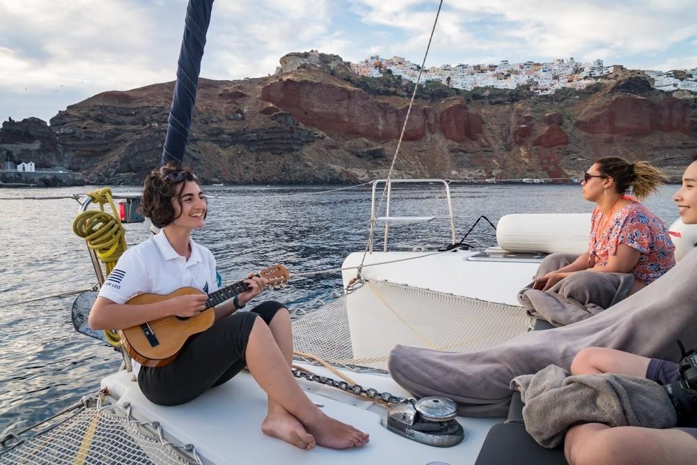 Semi Private Santorini Catamaran Sunset Cruise