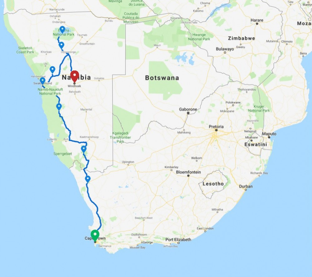 12 Days Cape & Namibia Guided Accommodated Adventure
