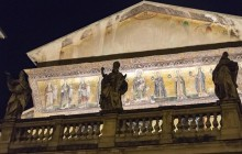 Panoramic Rome Bus Tour by Night with Traditional Dinner