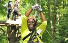 Zoar Gap Zipline + Rafting Package with Overnight Camping